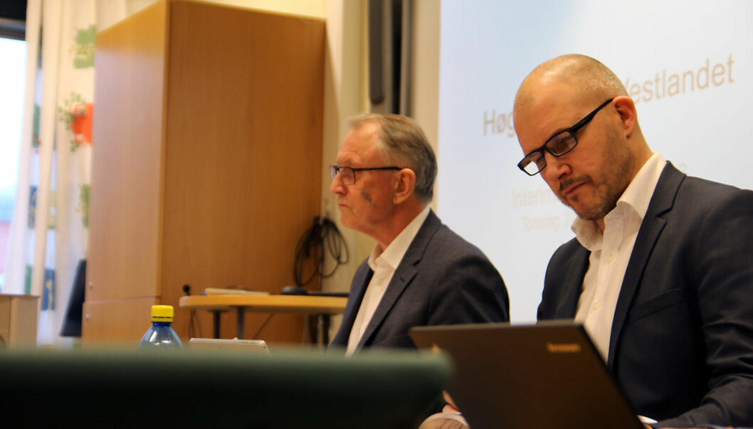 Tage Båtsvik, Arvid Hallèn. Styremøte HVL 24.11.2016. Høgskulen på Vestlandet. Foto: Marthe Njåstad
