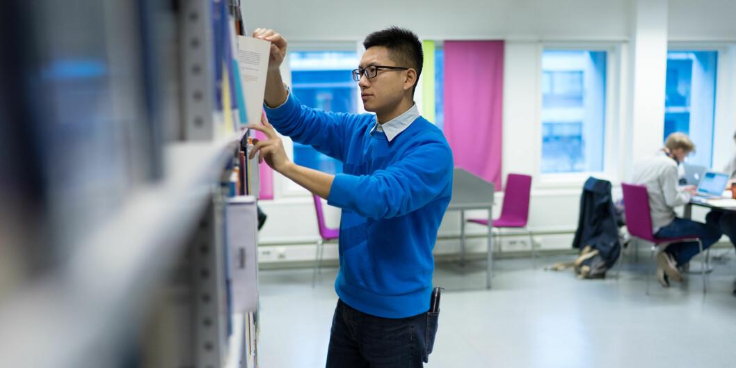 Kinesiske Biao He er gradsstudent fra Kina ved Høgskolen i Oslo og Akershus. Arkivfoto: KetilBlom
