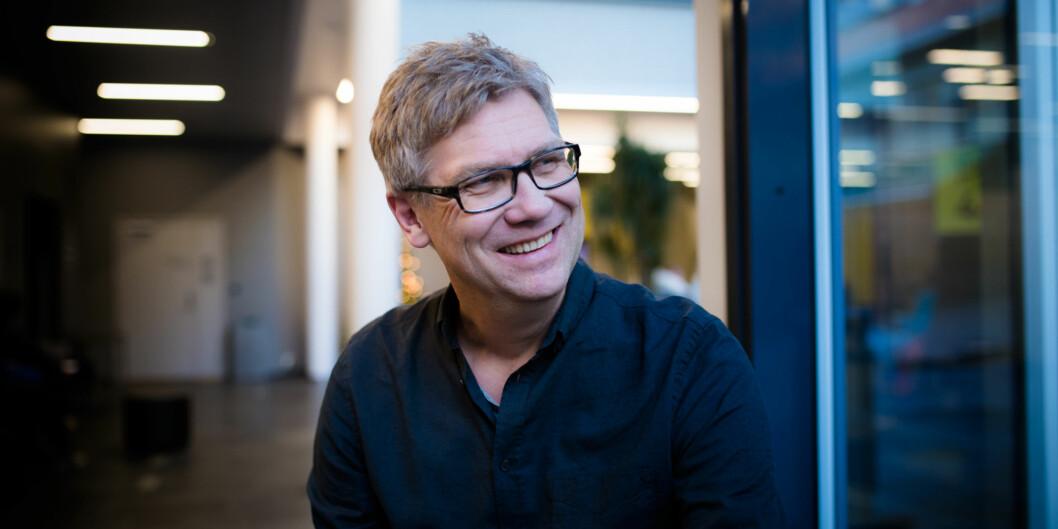 Jon petter Evensen, lærer ved bachelor i fotojournalistikk på Høgskolen i Oslo og Akershus.  Foto: Henriette Dæhli