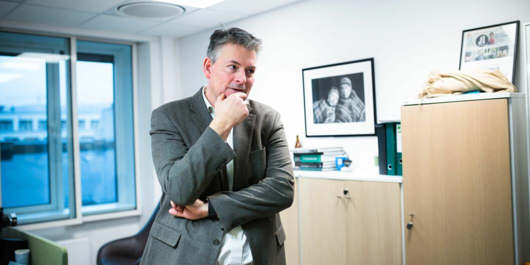 Statssekretær Bjørn Haugstad er åpen for at det kan være gode grunner til å beholde små fag, men mener det er helt klart at antall studietilbud måreduseres. Foto: Henriette Dæhli