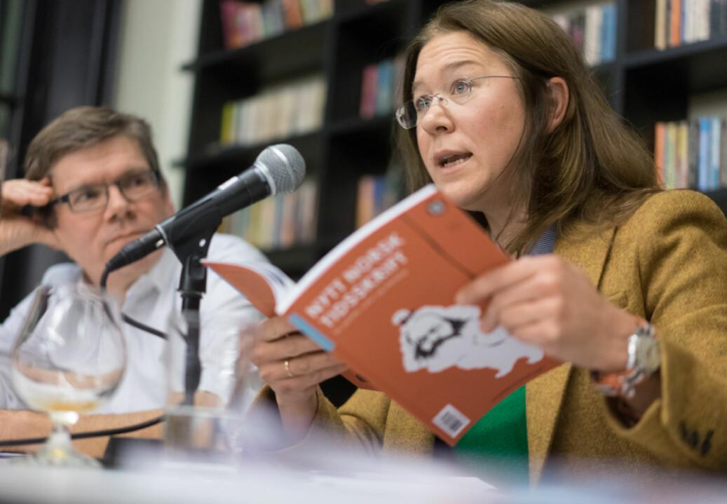 Anine Kierulf mener det må en kulturendring til på deler av Det juridiske fakultet ved Universitetet i Oslo. Her fra den debatt med UiOs rektor Svein Stølen . Arkivfoto: Ketil Blom Haugstulen