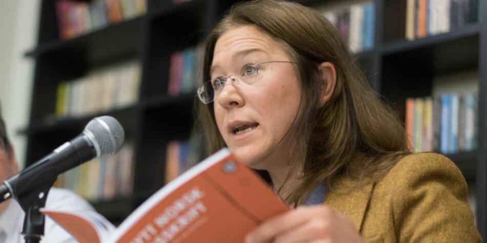 Anonymitetsretten har vært grunnleggende for utviklingen av ytringsfriheten, sier jurist Anine Kierulf, men hun synes likevel at anonym vitenskapelig publisering er en dårlig ide. Foto: Ketil Blom Haugstulen