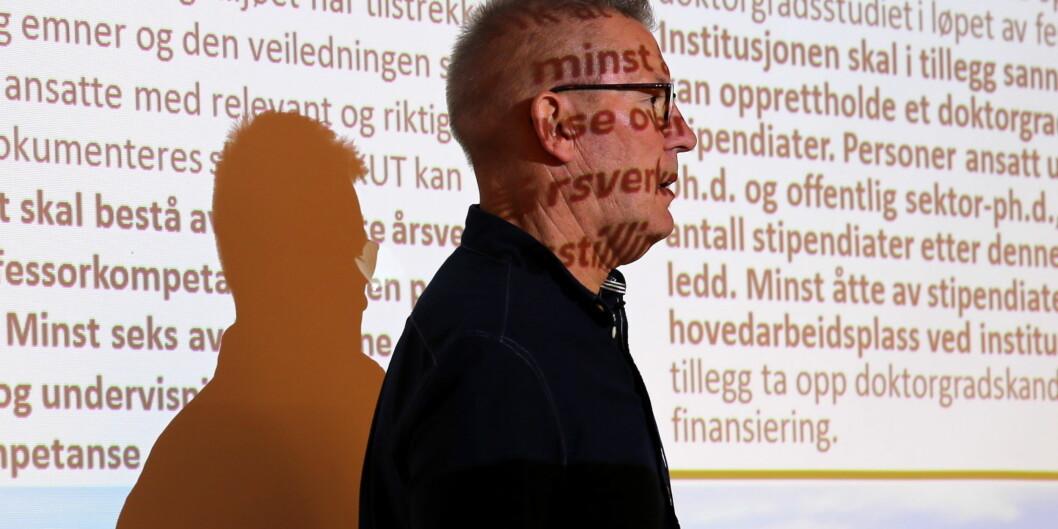 Rektor Hallgeir Gammelsæter ved Høgskolen i Molde skal legge frem forslag om fusjon med Volda for styret. Foto: Arild JohanWaagbø