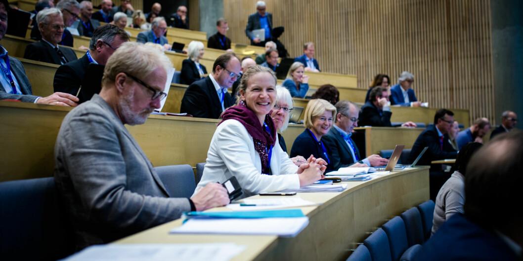 De siste to ukene har rektoratet ved UiO høstet både kritikk og støtte for utspillet om å endre Universitets- og høgskolerådets (UHR) rolle.  Bilde fra UHRs møte på NTNU i november 2016. Foto: Henriette Dæhli