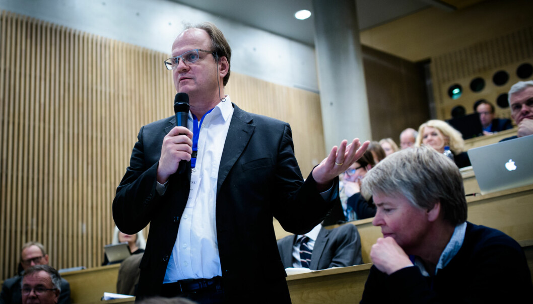 Rektor på Universitetet i Agder(UiA), Frank Reichert, ønsker seg tilbake til forskning og takker nei til en eventuell ny rektorperiode fra høsten 2019. Foto: Henriette Dæhlie
