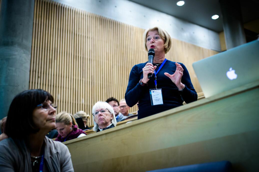 Vi må gi studentene bred kunnskap som kan brukes i mange situasjoner, mener UiT-rektor Anne Husbekk, her på representantskapsmøte Foto: Henriette Dæhli
