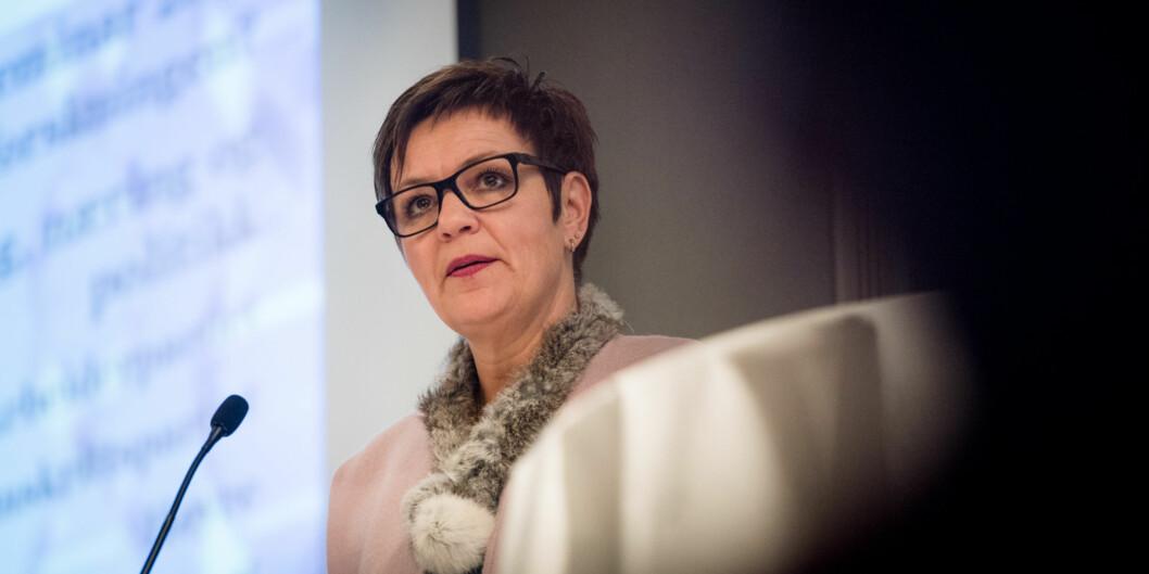 Anne Tingelstad Wøien , fagsjef i Virke, slår et slag for barnehagelærere utdanna på Steinerhøyskolen. Foto: Skjalg Bøhmer Vold