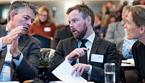 F.v: Statssekretær Bjørn Haugstad, kunnskapsminister Torbjørn Røe Isaksen og Hanne Monclair fra KD.