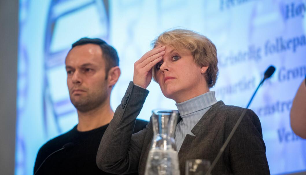 Marianne Aasen (Ap) forteller at hennes parti har landet på at det eneste fornuftige er å utsette innføringen av den nye finansieringsmodellen for universiteter og høgskoler ett år. Utslagene er såpass langt unna det man ønsket seg, at modellen må vurderes på nytt, menerAp. Foto: Skjalg Bøhmer Vold