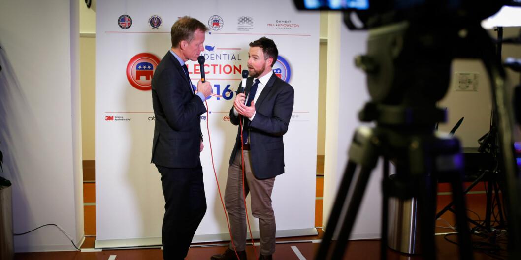 Valgvake for det amerikanske valget på Hioa  Foto: Henriette Dæhli