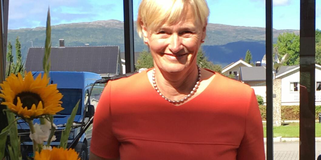Ordfører i Nesna kommune, Hanne Davidsen (Ap) er bekymret for framtida til kommunen hvis Nord universitet fortsetter å svekke og ikke styrke sin avdeling i hennes kommune. Foto: FinnRindahl