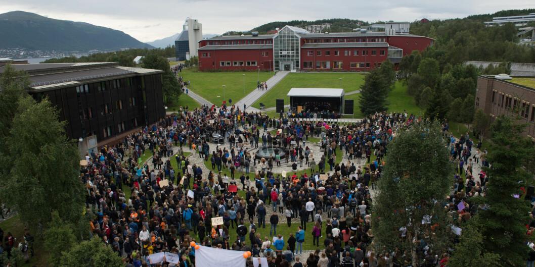 Fra studiestart på universitetet i Tromsø.