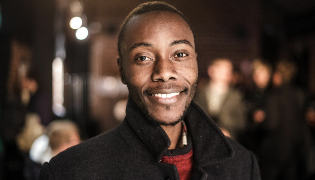 "President of <span class=""caps"">ISU</span> HiOA and masters student, Henry Mutebe, got elected into the HiOA Student parliament. Foto: Nicklas Knudsen"