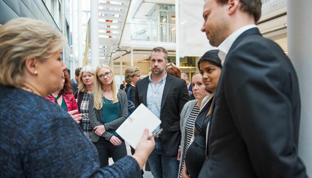 Statsminister Erna Solberg var tilstede da skandinavias første skole for helseinnovasjonåpnet.