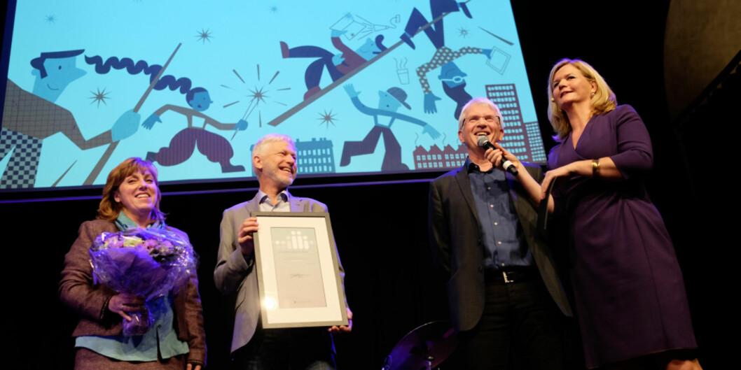 """Stolte vinnere av prisen for utdanningskvalitet for 2016 fra <span class=""""caps"""">NMBU</span>. Foto: Ketil Blom Haugstulen"""