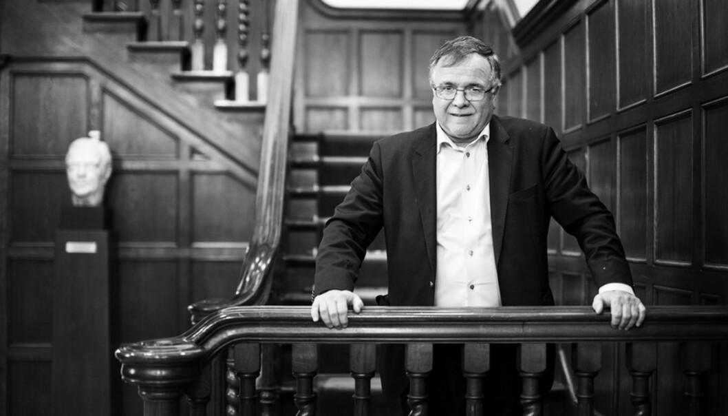 Universitetsdirektør Kjell Bernstrøms beste tips for å ikke mistejobben. Foto: Ingvild Festervoll Melien