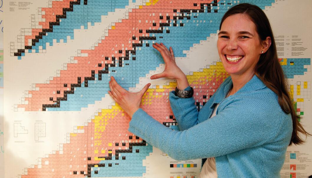 Fysiker Ann-Cecilie Larsen får prisen for unge fremragende forskere. Hun forsker på hvordan tyngre grunnstoffer blir dannet istjernene. Foto: Yngve Vogt