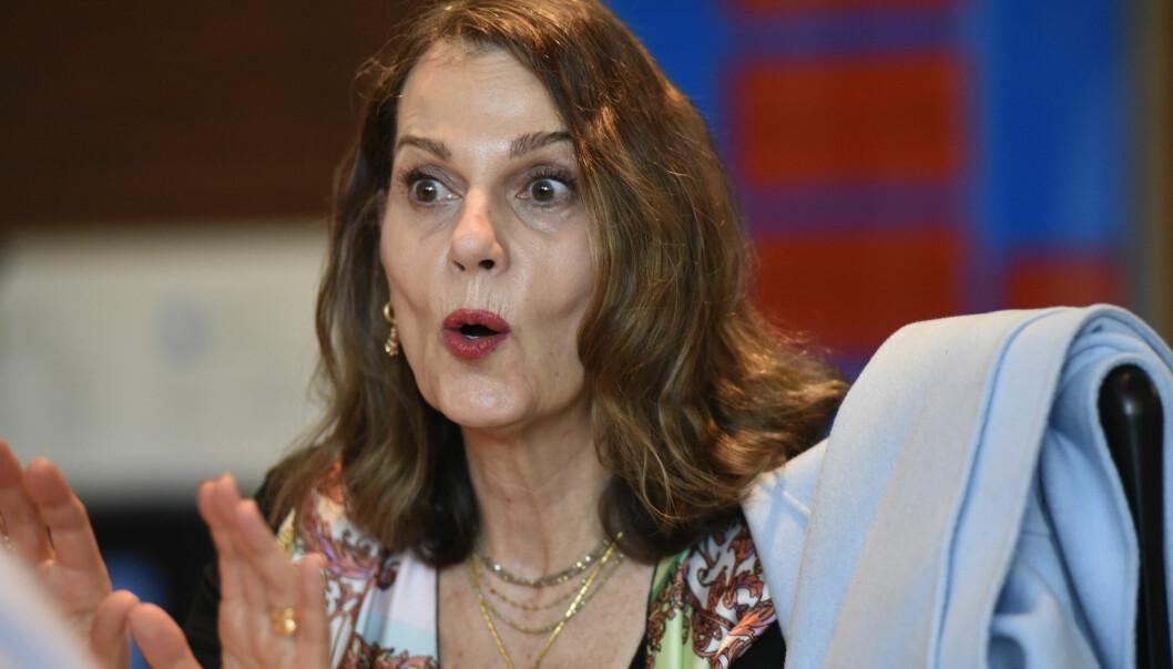 Uniforum har møtt ein av USA sine fremste retorikkforskarar, Sheryl Glenn, som har sterke meiningar om det amerikanske valet. Foto: Ola Sæther,Uniforum