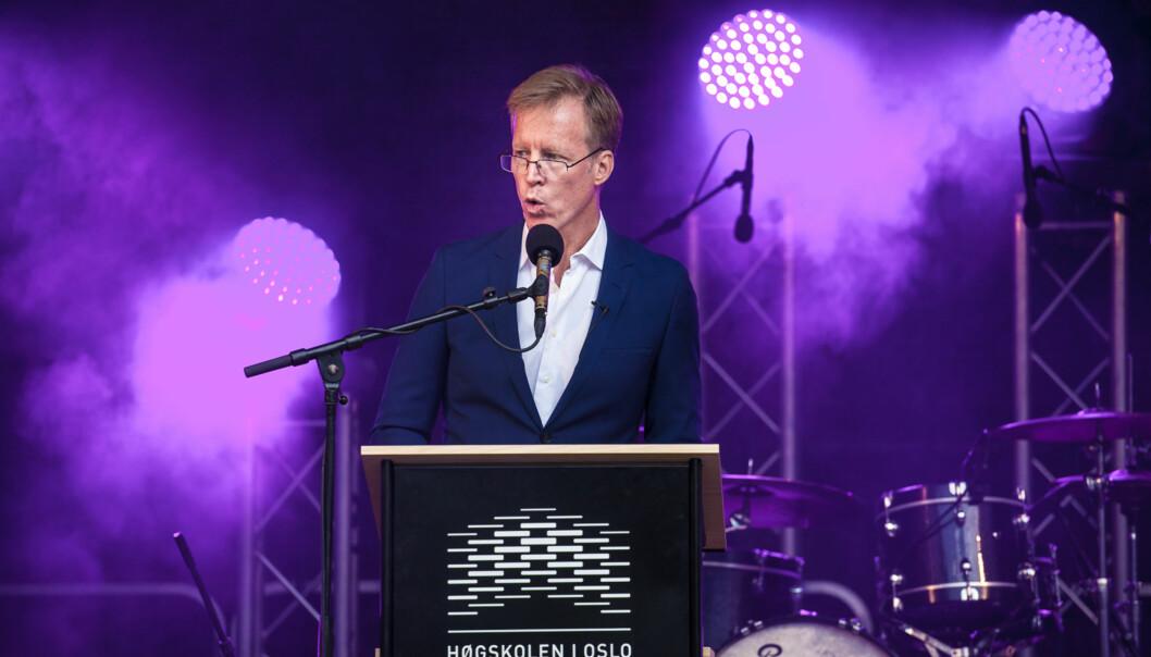 Curt Rice holdt tale da HiOA feiret åpningen av det nye skoleåret 2016 Foto: Nicklas Knudsen