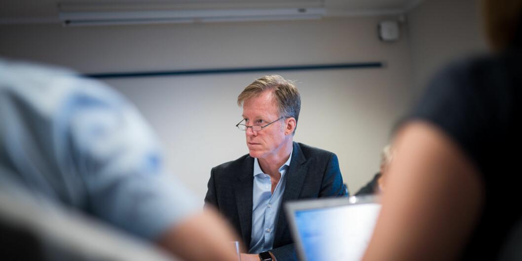 Rektor Curt Rice og tjenestemannsorganisasjonene på Høgskolen i Oslo og Akershus har vedtatt at de skal ta alt i beste mening og være mer rause medhverandre. Foto: Skjalg Bøhmer Vold