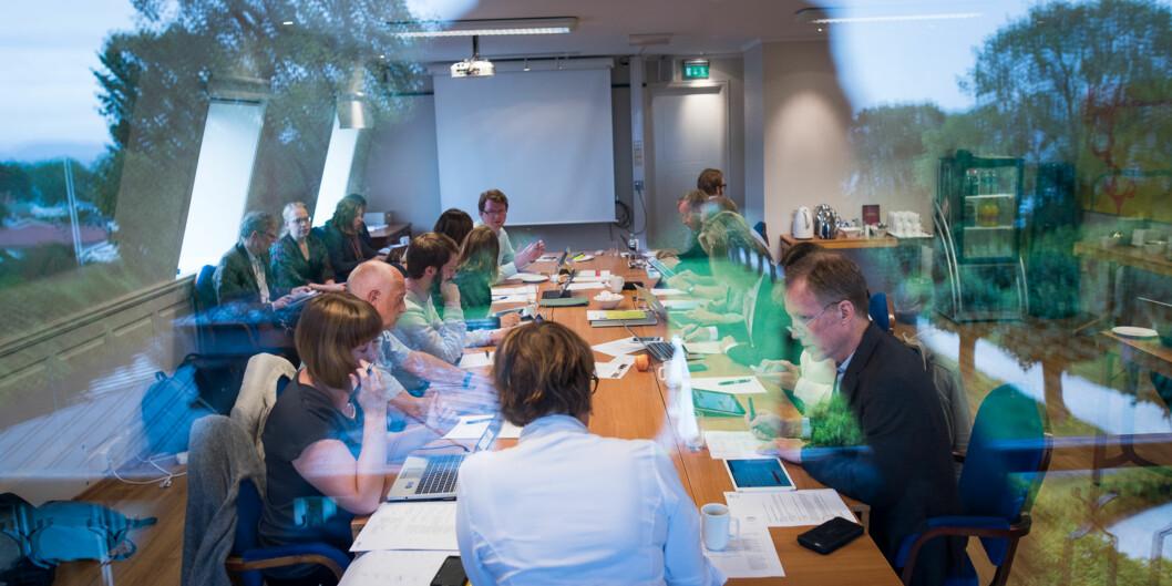 For ett år siden var høgskolestyret samlet på Jeløya som oppstart til høstens arbeid. I år er seminar og styremøte lagt tilSon. Foto: Skjalg Bøhmer Vold