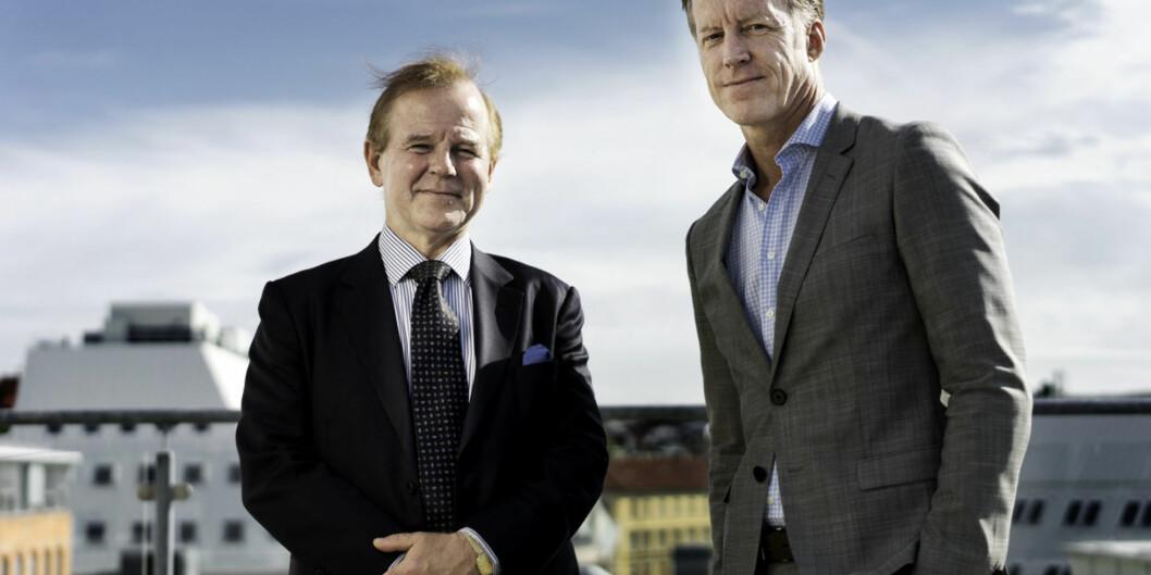 Toppledelsen ved Høgskolen i Oslo Akershus og Universitetet i Oslo møtes to ganger i semesteret, her er rektor på UiO Ole Petter Ottersen (t.v.) og HiOA-rektor Curt Rice. Foto: KetilBlom