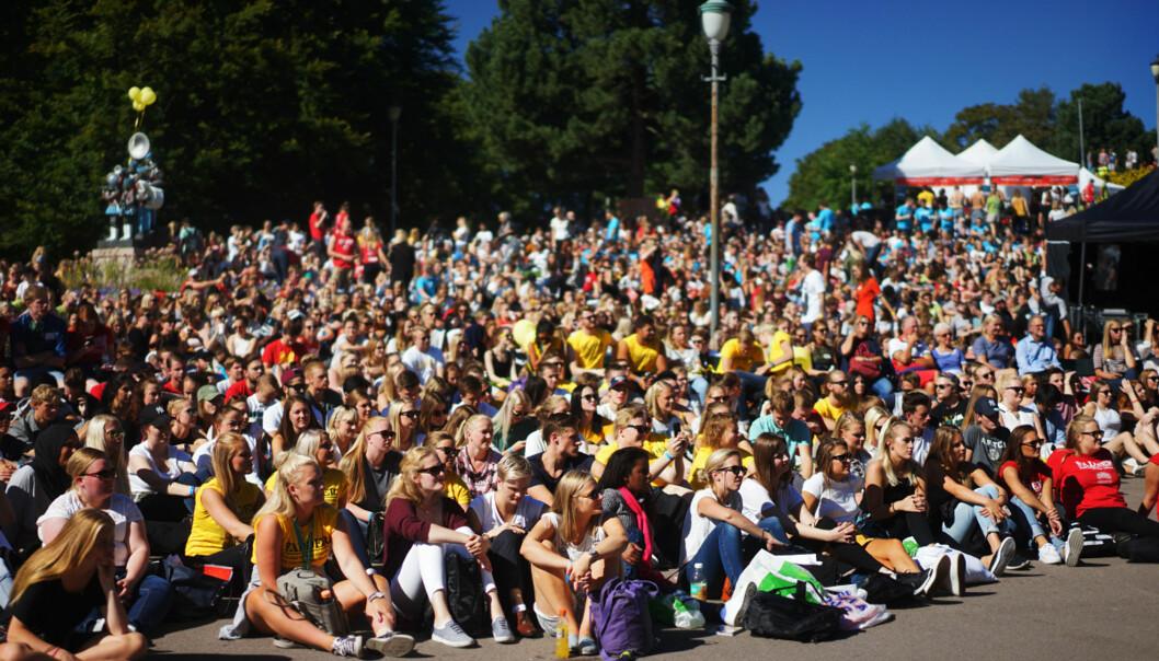 Per 26. august hadde Høgskolen i Oslo og Akershus svartelitstet 17 studenter, for drøye ni måneder siden var tallet 22. Bildet er fra studiestart i høst. Foto: KetilBlom