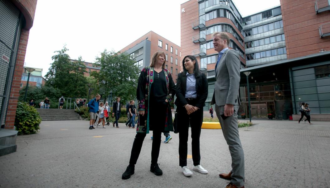 Som en del av den akademiske dugnad for flyktninger, som Høgskolen i Oslo og Akershus har stått i spissen for, starter afghanske Hasina Shirzad i dag på høgskolen. Målet er masterstudier fra nestehøst. Foto: Nicklas Knudsen