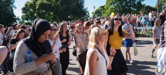 Tok imot 5000 ferske studenter på haugen