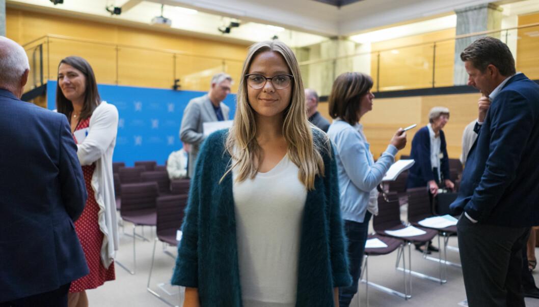 Pedagogstudentenes leder, Silje Marie Bentzen, er overrasker over at krav om karakter fra deleksamen i matte skal inn på vitnemålet allerede fra dennehøsten.