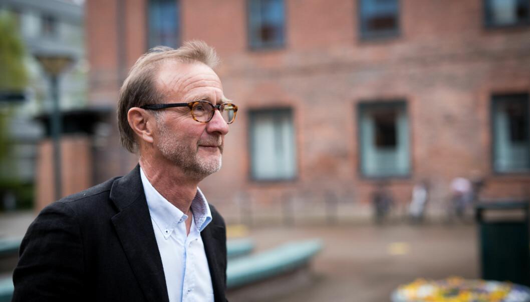 Dekan Knut Patrick Hanevik ved Fakultet for lærerutdanning og internasjonale studier har fått jobben med å finne ut hvilken faglig profil HiOAs nye campus i Lillestrøm skalha. Foto: Skjalg Bøhmer Vold