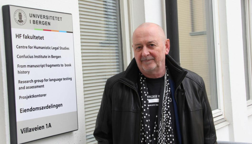 Litteraturprofessor Arild Linneberg innrømmer at publikasjonslisten for justismordprosjektet er grovt overdrevet. Foto: Hilde KristinStrand Foto: Hilde Kristin Strand