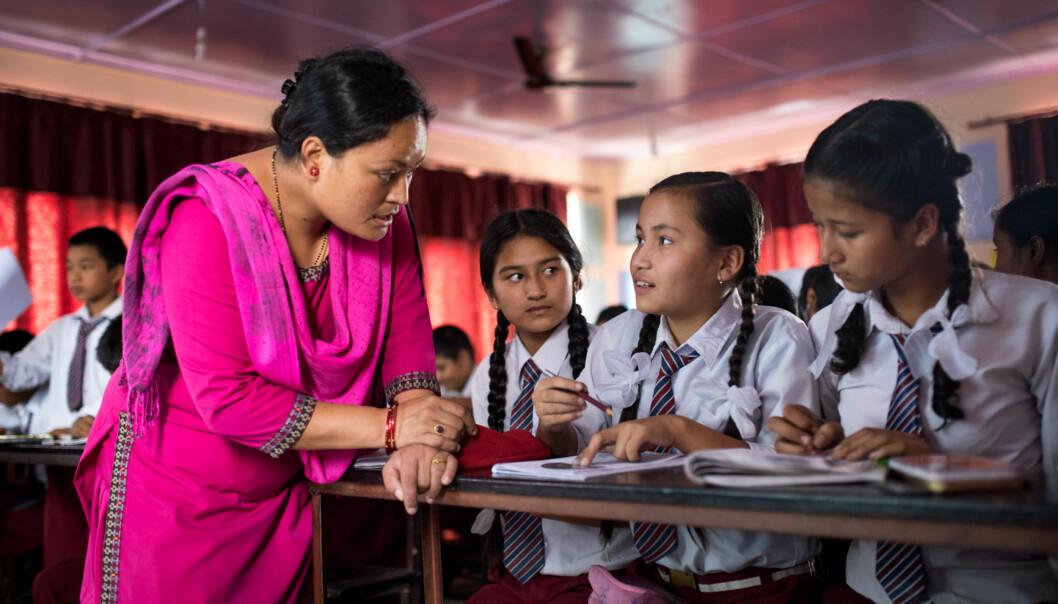 Mina Suwal tar masterprogrammet i matematikk for lærere ved Kathmandu University og synes hun er heldig som har fått dennemuligheten. Foto: Skjalg Bøhmer Vold