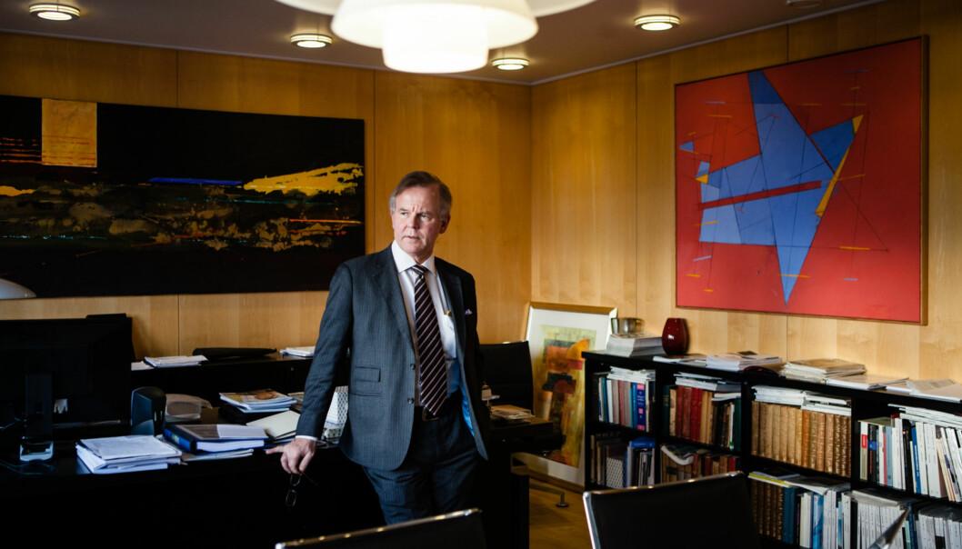 Ole Petter Ottersen fikk jobben som ny rektor fro Karolinska Institutet. Han tiltrer 1. august2017. Foto: Wanda Nathalie Nordstrøm