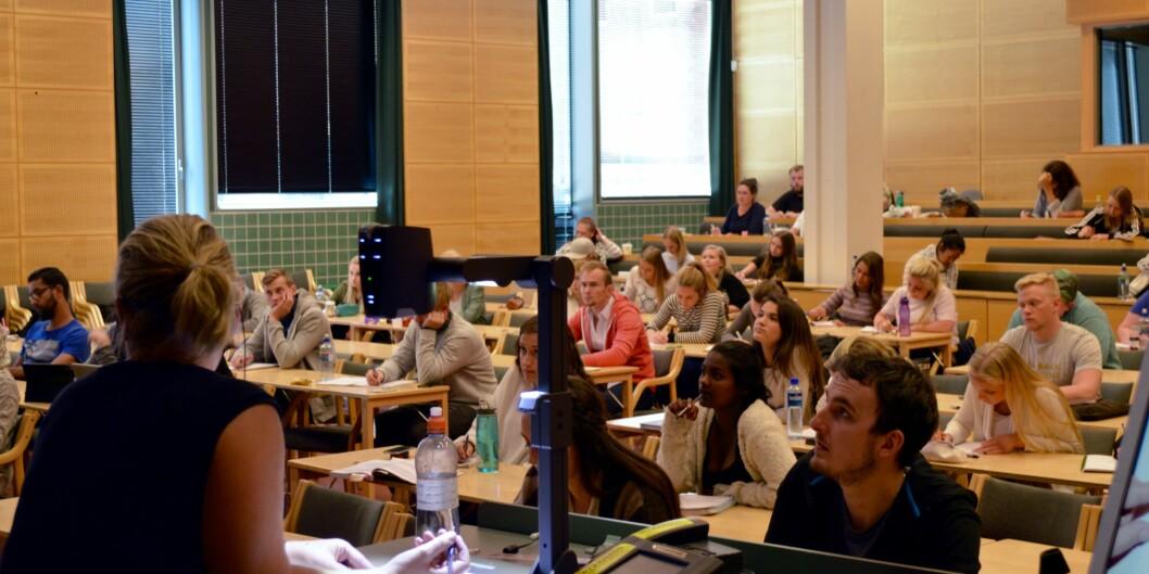 Oppstart av forkurs i matematikk for potensielle lærerstudenter på Høgskolen i Oslo og Akershus. Foto: ØysteinFimland