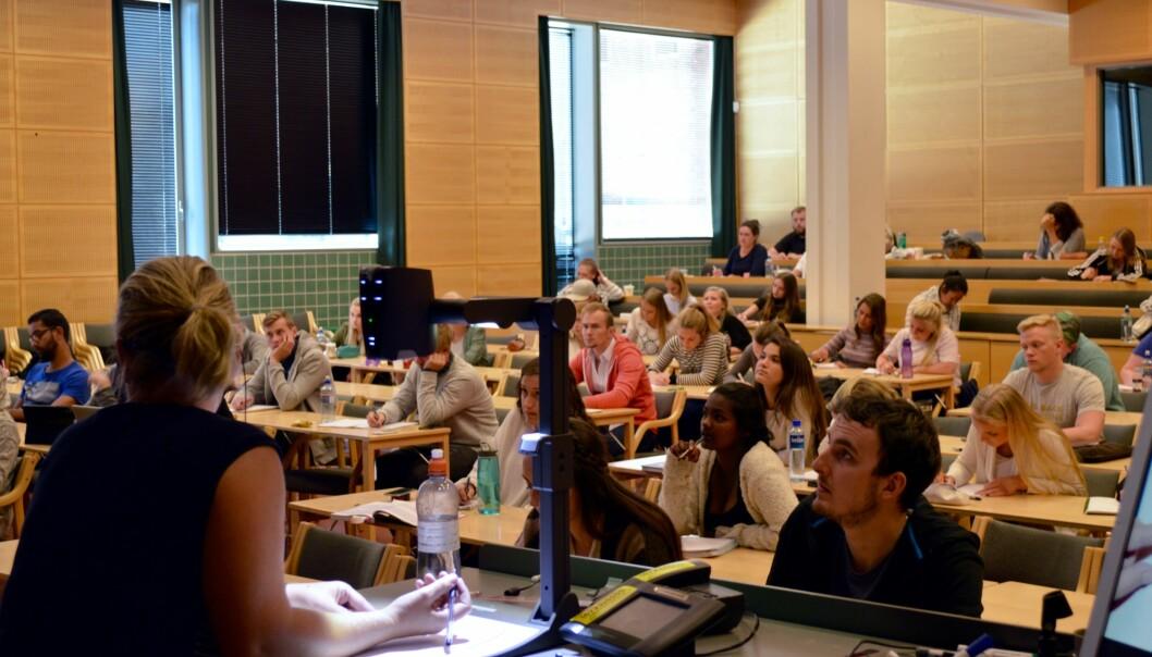 Høgskolen i Oslo og Akershus var blant dem som arrangerte forkurs (bildet) og også erkjente feil ved første eksamen. Det møtte 18 til ny eksamen og 8 av disse sto, strykprosent på55,6.