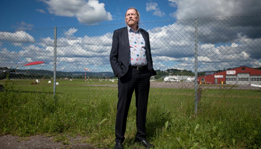 Professor og leder ved Institutt for produktdesign ved Høgskolen i Oslo og Akershus, Gunnar H. Gundersen, tenker stort om et framtidiguniversitet. Foto: Nicklas Knudsen