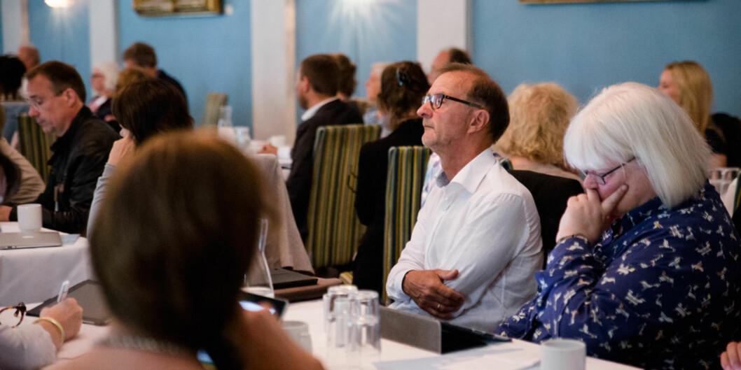 Dekan ved Fakultet for lærerutdanning og internasjonale studier ved Høgskolen i Oslo og Akershus, Knut Patrick Hanevik, klarer ikke å bruke opp midlene fakultetet alleredehar. Foto: Henriette Dæhli