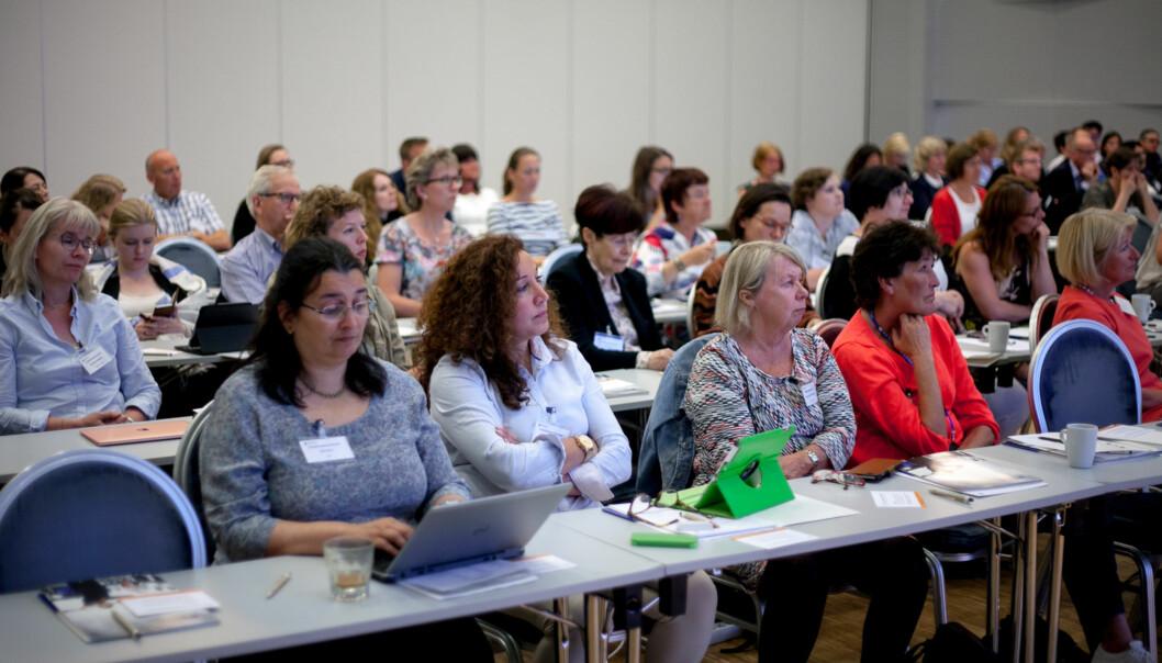 Fra en konferanse om likestilling i november 2017. Foto: Nicklas Knudsen
