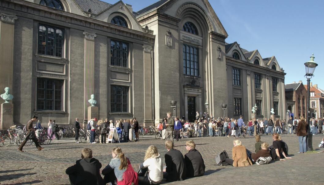 De siktede personene har blant annet søkt opptak ved Københavns universitet, Foto: Heine Pedersen/Københavnsuniversitet