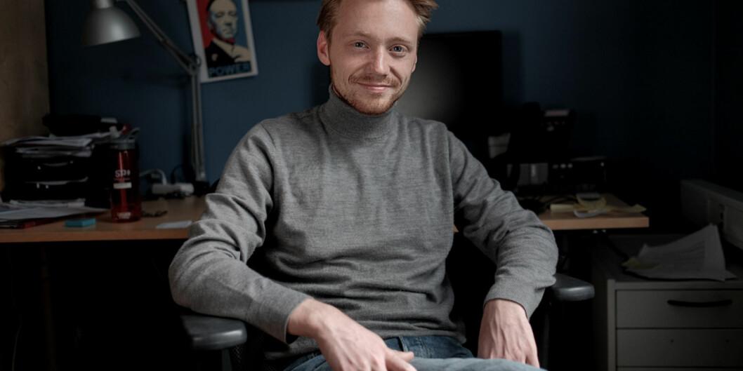 Studentleder i Oslo, Hans Christian Paulsen, ser at studentbevegelsen kanskje må begynne å forberede seg på å diskutere hvilke ordninger de vil kjempe for, hvis staten skal fortsette å redusere i studiestøtten for å finansiere kostnadene med 11 måneders studiestøtte. Foto: KetilBlom