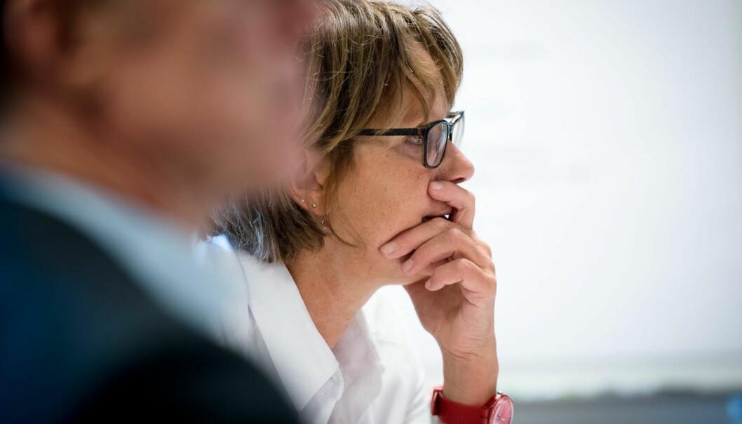 UiO-professor og styreleder ved OsloMet, Trine Syvertsen, leder prosessen med å ansette rektor ved universitetet. Nå får hun kritikk for en lukket og uryddig prosess. Foto: Skjalg Bøhmer Vold