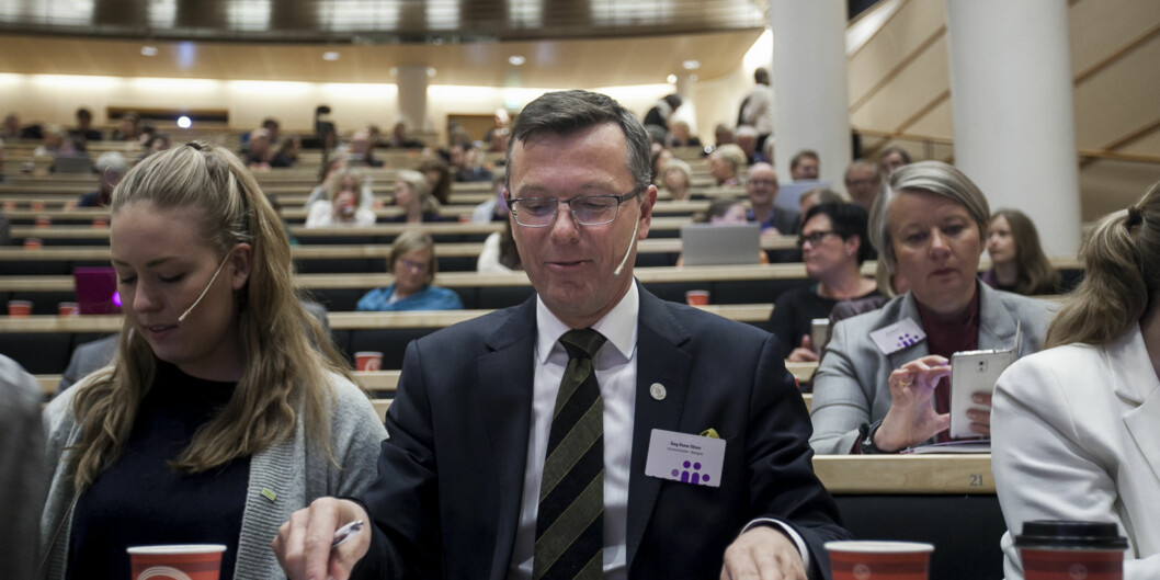 UiB rektor Dag Rune Olsen prater om tilstandsrapport Foto: Nicklas Knudsen