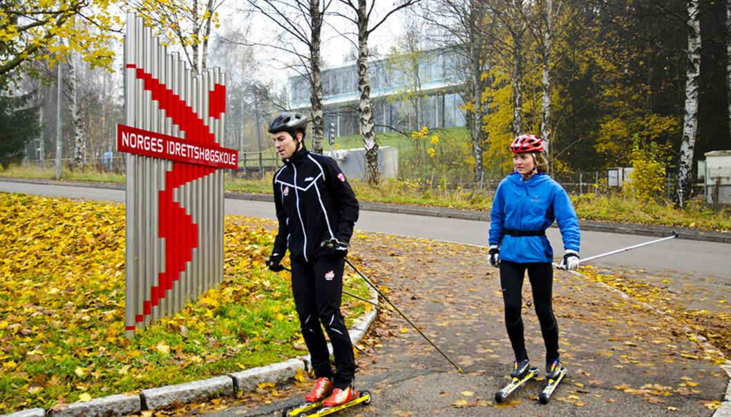 De ansatte på Norges idrettshøgskole er flinke til å forske og få forskningen publisert i anerkjente tidsskrifter, mener rektor KariBøe. Foto: Andreas B. Johansen
