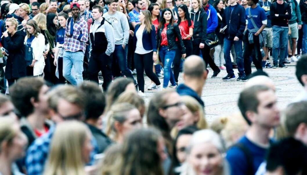 Over 40 000 kommende studenter har søkt seg til Universitetet i Oslo i 2016.Foto: OlaSæther