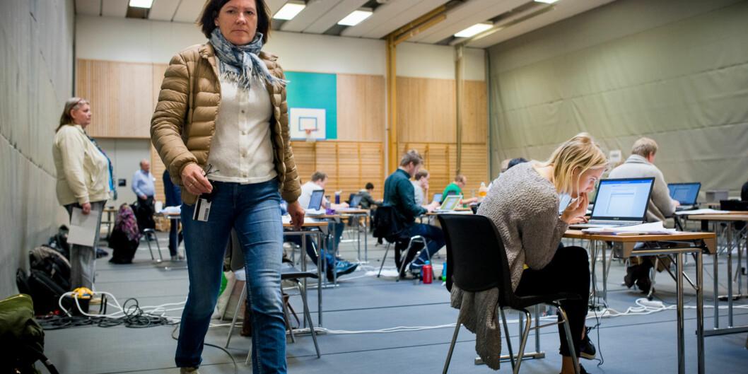 Irene Lona er prosjektleder for digital eksamen ved Høgskolen i Oslo og Akershus og kan konstatere at andelen digitale har gått opp fra 8 prosent våren 2015 til 37 prosent dennevåren. Foto: Skjalg Bøhmer Vold