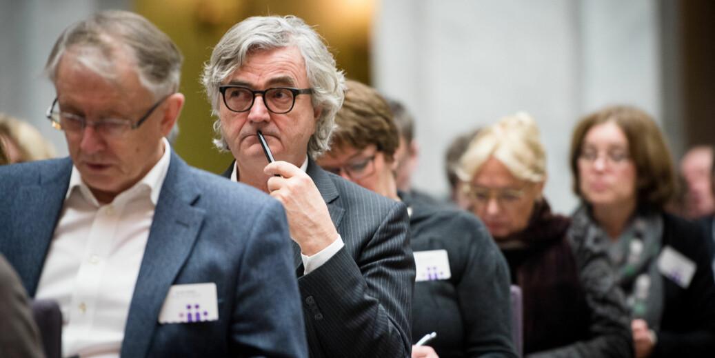 Petter Aaslestad i Forskerforbundet leder forhandlingene med staten på vegne av Unio, nå forbereder han medlemmene på mulig streik mot slutten av måneden. Foto: Skjalg Bøhmer Vold