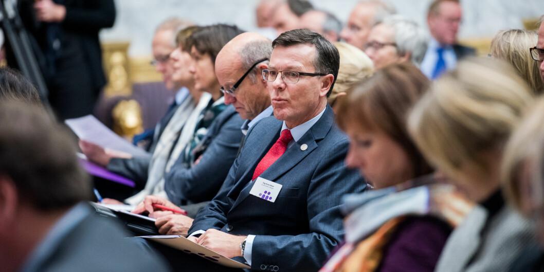 Rektor på UiB Dag Rune Olsen på Kontaktkonferansen 2016. Foto: Skjalg Bøhmer Vold
