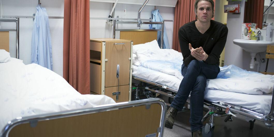 Intervjuet med sykepleierstudent Lars Mørch Aaen ved HiOA, der han forteller hvorfor så mange er misfonrøyd med utdanningen, var den mest leste saken i Khrono i 2016 og førte til bred debatt om innholdet isykepleieutdanningen. Foto: Øyvind Aukrust
