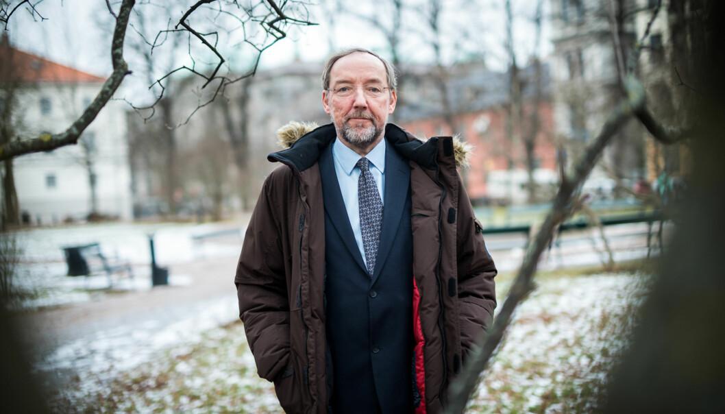 Områdedirektør i Forskningsrådet, Jesper W. Simonsen, er fornøyd med at det nå er flere som søker om midler for å bedre kjønnsbalansen blant norske forskere. Foto: Skjalg Bøhmer Vold